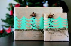 Natural Christmas wrapping. I don't really get how this is nautical, but it's cute, nonetheless.