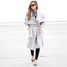    HP   The Fifth   Grey Long Tie Front Wrap Coat Now available! Carried by Nasty Gal. The City of Sound Coat by The Fifth Label is a fully lined long length coat with an oversized collar, large front pockets, and a generous waist tie. Wear over any cocktail or daytime outfit, this coat goes with everything! Available in XS, L. This item is an XS but will fit a small.   Main: 88% Polyester 10% Rayon 2% Elastane  Lining: 100% Polyester  ❤️ Love the item but not the price, make an offer! Ask…