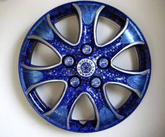 With a little paint, Dallas woman turns recycled car parts into works of art | Dallas-Fort Worth Home and Gardening - Lifestyles News for Dallas, Texas - The Dallas Morning News