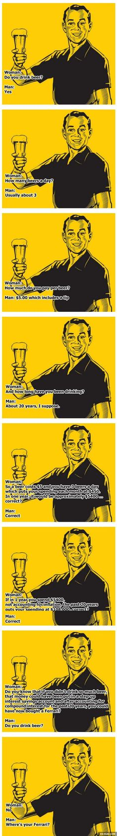 Male Logic vs Female Logic On Drinking Beer. Bros Will Understand