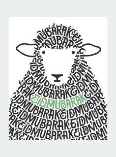 Sheep Mubarak Card: Keep loved ones close by sending an Eid Mubarak card this… Eid Adha Mubarak, Eid Mubarak Quotes, Eid Mubarak Card, Eid Mubarak Greeting Cards, Happy Eid Mubarak, Jumma Mubarak, 3id Al Adha, Eid Al Adha Greetings, Eid Crafts