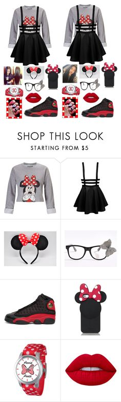 """""""Going to Disney World Wit Bestfrandd"""" by chubionne ❤ liked on Polyvore featuring Miss Selfridge, NIKE, Kate Spade, Disney and Lime Crime"""