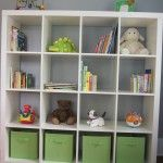 Great storage shelf for baby room
