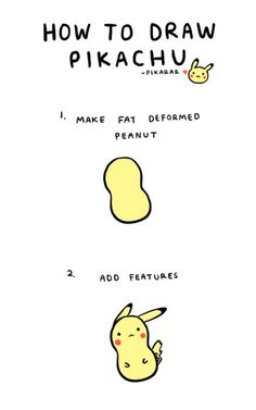 How to Draw: Cute Pikachu