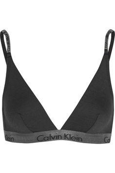Calvin Klein Underwear|Stretch-jersey soft-cup triangle bra|NET-A-PORTER.COM