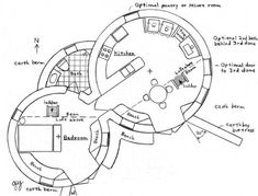 Plans, croquis, 3ds et projets - Superadobe France Cob House Plans, Small Cottage House Plans, House Floor Plans, Cabin Plans, Earth Bag Homes, Geodesic Dome Homes, Earthship Home, Adobe House, Natural Building