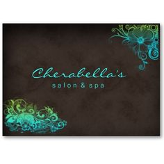 Blue Green Trendy Salon Spa Appointment Card