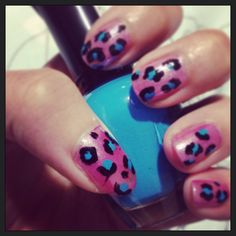 Leopard print nail design. I m so proud of myself