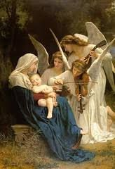 (France) The virgin with angels, 1881 by William Adolphe Bouguereau oil on canvas. William Adolphe Bouguereau, Catholic Art, Religious Art, Classic Paintings, Beautiful Paintings, Jesus Christ Painting, Pictures Of Mary, Supernatural Tattoo, Christian Images