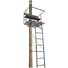 Hunting Ladder Tree Stand 2 Man 17 1/2' Deluxe Padded Backrest  #GuideGear