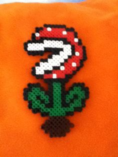 Perler Bead Pirahna Plant-Mario 3