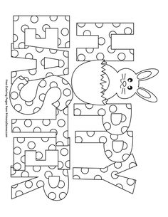 Free printable Easter Coloring Pages eBook for use in your classroom or home from PrimaryGames. Print and color this Happy Easter coloring page. Easter drawings Happy Easter Coloring Page Easter Coloring Pages Printable, Easter Coloring Sheets, Easter Worksheets, Spring Coloring Pages, Easter Colouring, Easter Printables, Easter Activities, Coloring Pages For Kids, Adult Coloring