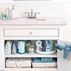 bathroom under sink organization