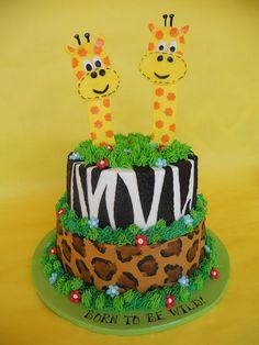 Born To Be Wild Baby Shower Cake