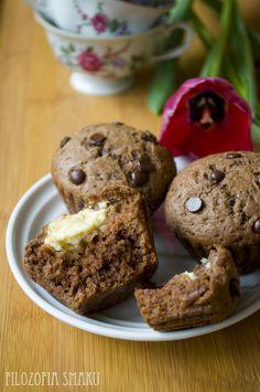 Czekoladowe muffinki z twarogiem | Filozofia Smaku
