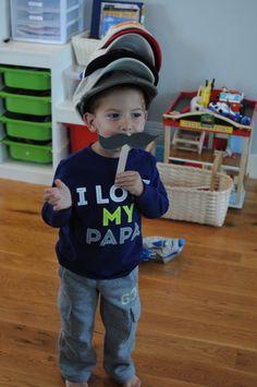Caps for Sale activities for a toddler or preschooler.