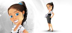 Freebie - Business Woman Vector Character