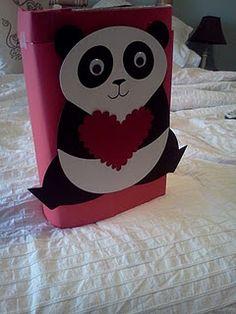 Valentine Holder....my daughter loves pandas!
