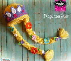 Adorable Rapunzel/Tangled Hat with Tiara by SWAKLovelyHandmade, $45.00