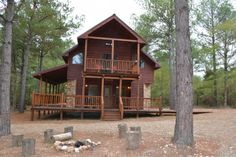 #McCurtainCounty Silver Spur - This new, two story cabin has all the elements of a great getaway. Located in Kaniatobe Trails, the Silver Spur ...