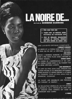 Black Girl (1966-France/Senegal) Carthage, Pictures Of Black Girls, Jean Rouch, Quarantine Movie, Film Theory, French Films, Design Language, Film Quotes, Film Director