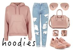 """""""Hoodie Days"""" by nenedopesauce ❤ liked on Polyvore featuring Topshop, adidas, Ray-Ban, Givenchy and Carolee"""