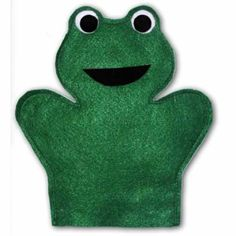 Puppet workshop hand puppet body pattern crafts for Frog finger puppet template