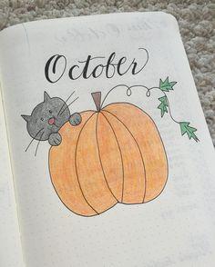 Finally added some color! Happy October! . #bulletjournal #bulletjournalcommunity #bulletjournaljunkies #bujo #bujolove #bujocommunity #bujoinspire #planner #planneraddict #showmeyourplanner #plannercommunity #leuchtturm1917 #creativity #handwriting #doodle #october