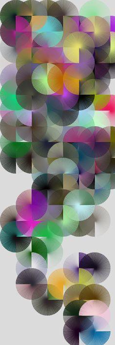 Circles random composition orginally made made for Written Images book