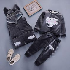 Baby Boy Elephant Clothing Set [3M-4T] 59.99 CAD Maternity Swimsuit, Maternity Pants, Maternity Tops, Cheap Girls Clothes, Shirt Bag, Shoes Heels Wedges, Baseball Shirts, Outfit Sets, Kids Girls