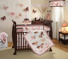 Click Image Above To Purchase: Closeout! Lambs And Ivy 6 Piece Baby Crib Bedding Set In Butterfly Dreams Baby Crib Bedding Sets, Crib Sets, Baby Cribs, Bed Sets, Baby Girl Nursery Themes, Nursery Ideas, Girl Nurseries, Baby Rooms, Kid Rooms