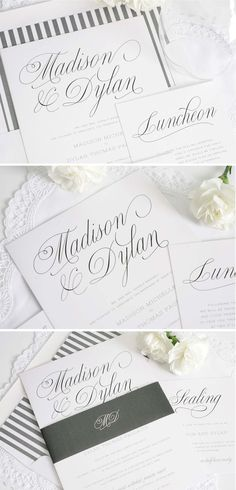 Outdoor Gray Garden Wedding Stationery Suite | http://www.shineweddinginvitations.com/wedding-invitations/garden-script-wedding-invitations