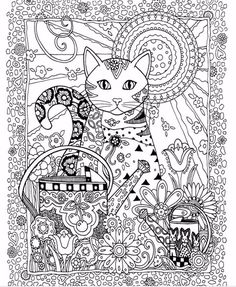 Creative Haven-Creative Cats Coloring Book For Adults! Latest trend in anti-stress! Inner Page: total 12 sheets, 24 pages Model Number: creative cat coloring book Cat Coloring Page, Adult Coloring Book Pages, Animal Coloring Pages, Coloring Pages To Print, Free Coloring Pages, Printable Coloring Pages, Coloring Sheets, Coloring Books, Colorful Drawings