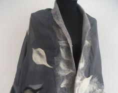 Blanket wrap with beautiful details, Merino wool shawl Merino wool scarf Lightweight poncho Large scarf, Nuno felted scarf Felted wool scarf Nuno Felt Scarf, Wool Scarf, Felted Scarf, Felted Wool, Bridal Shawl, Wedding Shawl, Large Scarf, Nuno Felting, Blanket Scarf