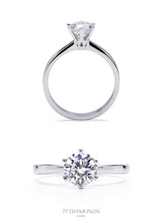 Perfectly classic engagement ring with 6 claws securing the diamond. #proposal