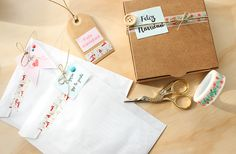Little Hannah: Packaging: bolsas de papel decoradas para Navidad