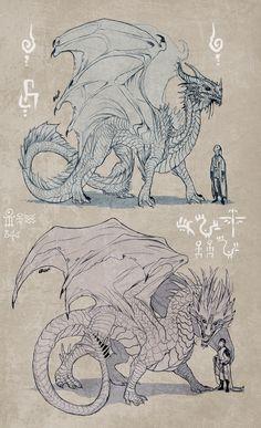Dragons sketch by Zarnala.deviantart.com on @deviantART