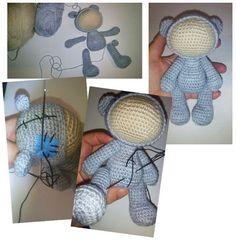 Amigurumi baby dolls in animal costumes - crochet pattern