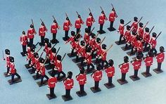 Army of tin soldiers.