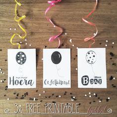 Free printable verjaardags kaarten