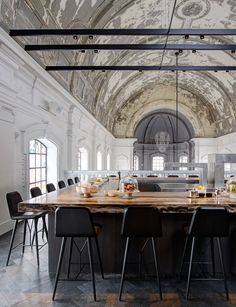 Piet Boon Studio Transformed A church Into 'The Jane' Restaurant in Antwerp | http://www.yatzer.com/the-jane-antwerp-piet-boon photo by Richard Powers.
