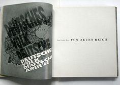 Ingo Kaul: Deutsches Volk – deutsche Arbeit. Gemeinnützige Berliner Ausstellungs- und Messe-Ges. m.b.h., Berlin, 1934. Printer: August Scherl GmbH, Berlin. Size: 21 x 21 cm. Designer: Herbert Bayer.