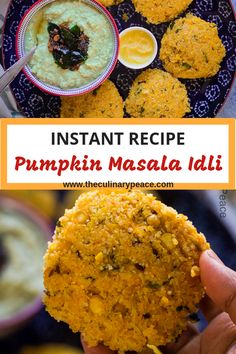 Pumpkin Idli is a delicious traditional Karnataka dish. Pumpkin Idli can be made quickly without fermentation and is very healthy, vegan and gluten-free. Indian Breakfast, Best Breakfast, Breakfast Ideas, Breakfast Toast, Indian Food Recipes, Vegetarian Recipes, Indian Snacks, Healthy Breakfast Muffins, Healthy Breakfasts