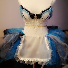 Photo did not justify how Gorgeous this tutu set really is.  Put together Alice in Wonderland Bra + Tutu Set for Brittany.