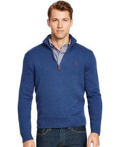 Polo Ralph Lauren Half-Zip Mockneck Sweater - Sweaters - Men - Macy's