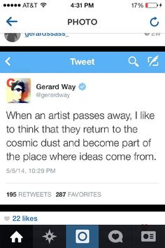 Gerard's tweets are either some really deep emotional shiz or potato salad or something there's no inbetween -TayWay