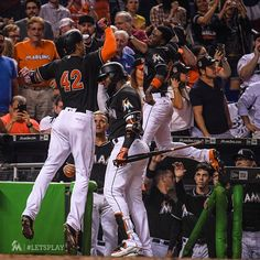 """4,007 Likes, 8 Comments - Miami Marlins (@marlins) on Instagram: """"That. Just. Happened. #FISHWIN!"""""""