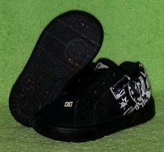 DC Shoes Toddler Boys Court Graffik LE Skate Shoe Black/White/Gray Size 5 EUC #DCShoes #Athletic