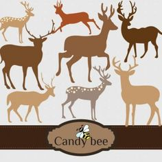 Many more deers for you in different styles and stunning look, a total of eight deer vector cliparts.