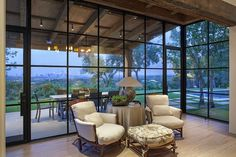 Tulsa, OK Steel Windows from Eden Windows & Doors is an extremely durable, reliable and quality option for your home or business. Ask about our inventory. Interior Exterior, Exterior Design, Home Interior Design, Steel Windows, Windows And Doors, Closed In Porch, Br House, Hill Country Homes, Glass House